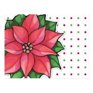 La alegría del Poinsettia puntea la postal