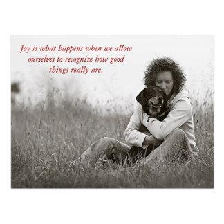 La alegría es qué sucede cuando w… postal