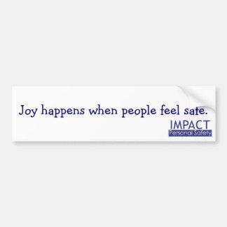 La alegría sucede pegatina para el parachoques pegatina para coche