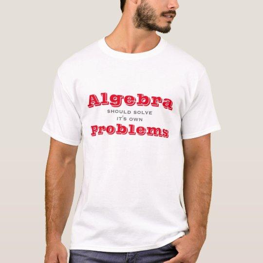 La álgebra debe solucionar su propia camiseta de