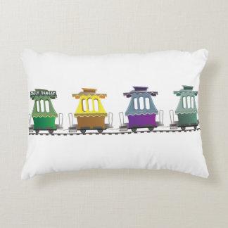 La almohada alegre del tren de la carretilla del