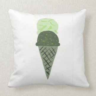 """La almohada verde linda """"vida del cono de helado"""