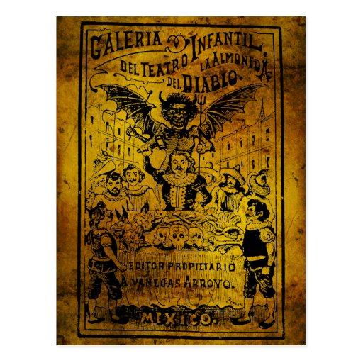 La Almoned del Diablo de José Guadalupe Posada Tarjetas Postales