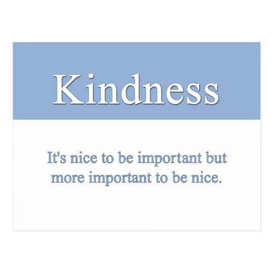 La amabilidad es la calidad más importante postal