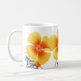 La amapola de California botánica florece la taza