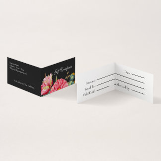 La amapola de la acuarela florece el vale tarjeta de visita