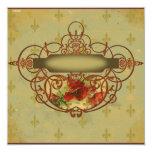 La amapola enrolla la invitación de la flor de lis invitación 13,3 cm x 13,3cm