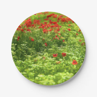 La amapola maravillosa florece V - Wundervolle Plato De Papel