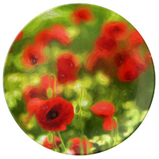 La amapola maravillosa florece VI - Wundervolle Plato De Porcelana