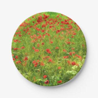La amapola maravillosa florece VII - Wundervolle Plato De Papel