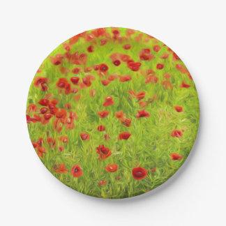 La amapola maravillosa florece VIII - Wundervolle Plato De Papel
