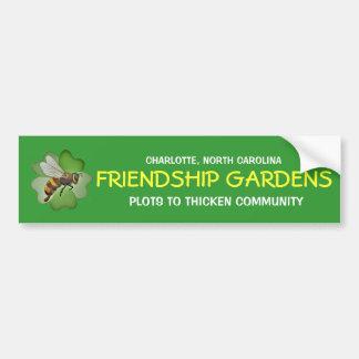 La amistad cultiva un huerto pegatina para el para pegatina para coche