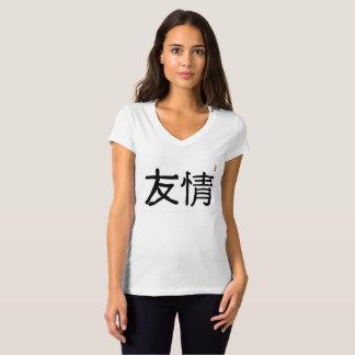 La amistad en chino tradicional pone letras al yo camiseta