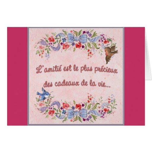 La amistad es la más preciosa tarjeta
