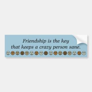 La amistad/guarda a una pegatina para el pegatina para coche