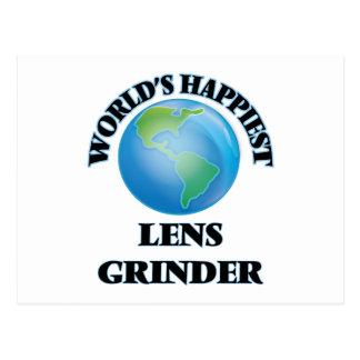 La amoladora más feliz de la lente del mundo postal