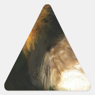 La anticipación me está haciendo hambriento pegatina triangular