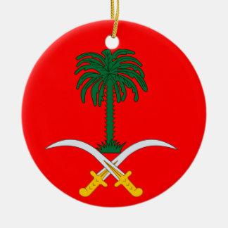 La ARABIA SAUDITA * ornamento de encargo del Adorno Redondo De Cerámica