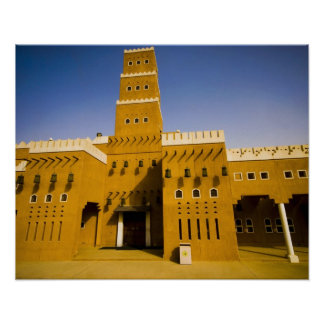 La Arabia Saudita, Riyad, mezquita del Al Diriya Póster