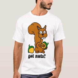 la ardilla consiguió nueces camiseta