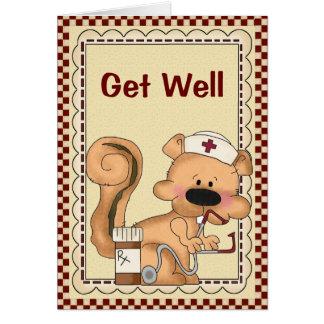 La ardilla del dibujo animado del dibujo animado c tarjeta de felicitación