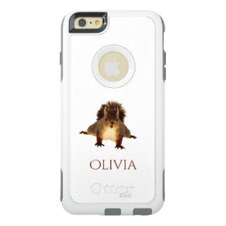 La ardilla roja Nosy en nieve añade nombre Funda Otterbox Para iPhone 6/6s Plus