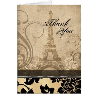 La arena de la torre Eiffel el | de Fleur de París Tarjeta De Felicitación