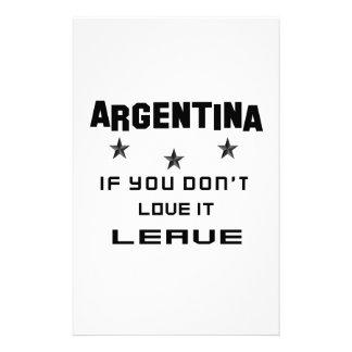 La Argentina si usted no la ama, se va Papelería De Diseño