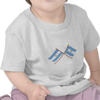 La Argentina y banderas cruzadas Corrientes Camiseta