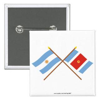 La Argentina y banderas cruzadas Santiago del Este Pins