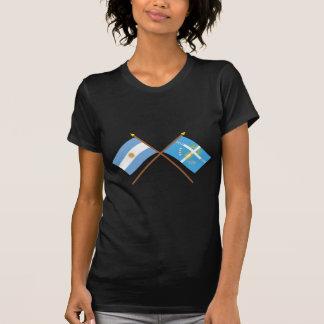 La Argentina y banderas cruzadas Tucumán Camisetas
