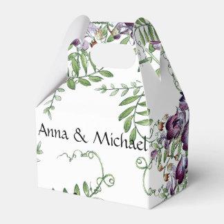 La arveja botánica florece la caja floral del