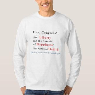 La atención sanitaria es una camiseta de los