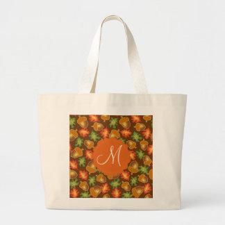 La atmósfera brillante del otoño con las bellotas bolso de tela gigante