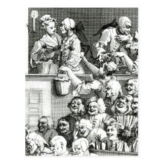 La audiencia de risa, 1733 tarjeta postal