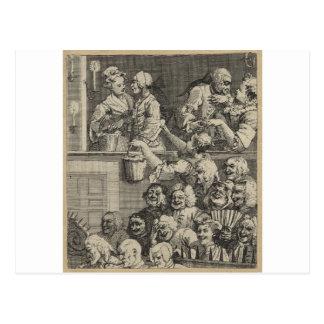 La audiencia de risa de William Hogarth Postal