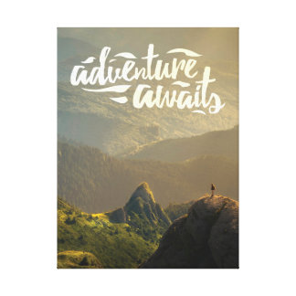 La aventura aguarda el poster lienzo