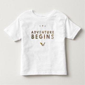 La aventura comienza camiseta de bebé