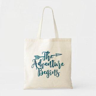 La aventura comienza el bolso de la acuarela
