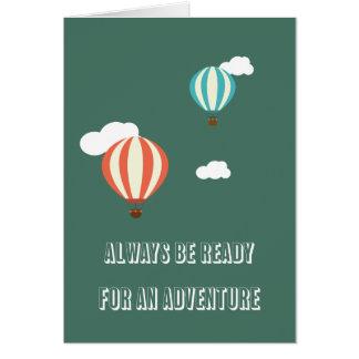 La aventura embroma la tarjeta de felicitación