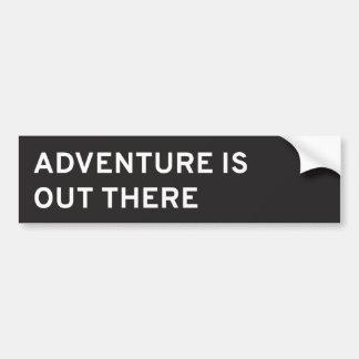 La aventura está hacia fuera allí pegatina para el
