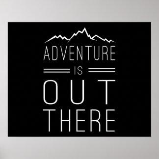 La aventura está hacia fuera allí impresiones