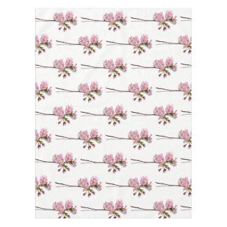 La azalea rosada ramifica las flores florales mantel