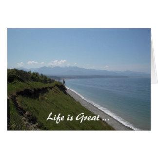 La bahía de Dungeness (2), vida es grande… Tarjeta De Felicitación