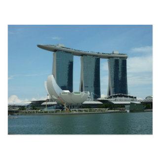 La bahía del puerto deportivo enarena Singapur Tarjetas Postales