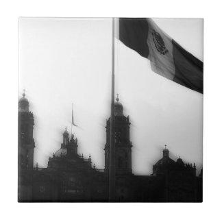 La Bandera 10 de la estafa del EL Zocalo del DF Azulejo Cuadrado Pequeño