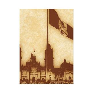 La Bandera 11 de la estafa del EL Zocalo del DF de Lona Envuelta Para Galerías