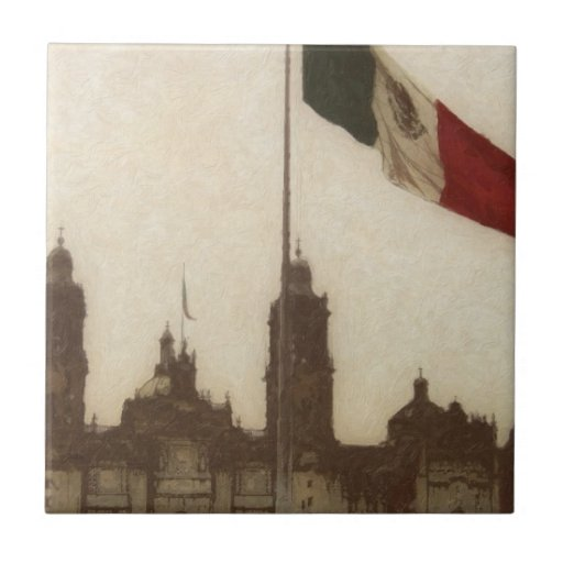La Bandera 12 de la estafa del EL Zocalo del DF de Azulejo Cerámica