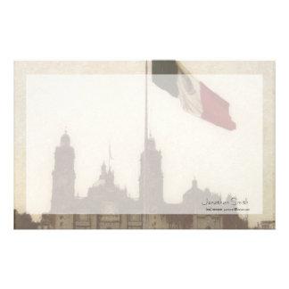 La Bandera 12 de la estafa del EL Zocalo del DF de Papeleria