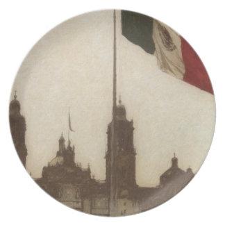La Bandera 12 de la estafa del EL Zocalo del DF Platos Para Fiestas